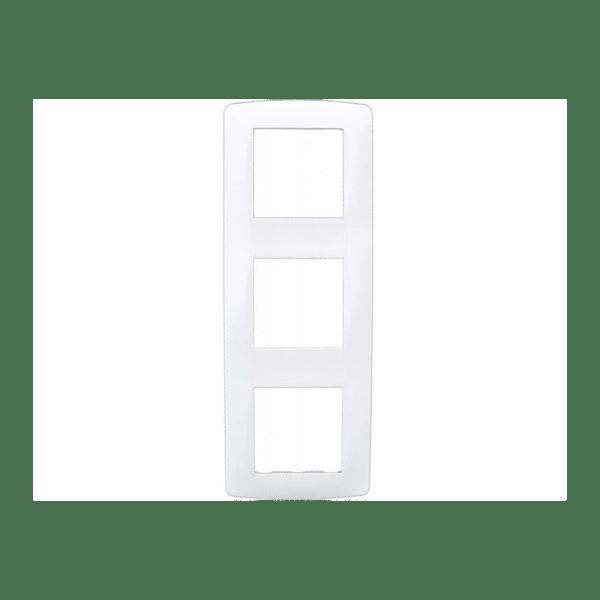 Plaque 3 postes blanc gamme...