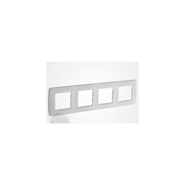 Plaque 4 postes blanc gamme...